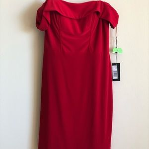 BRAND NEW Red Off The Shoulder Homecoming Dress